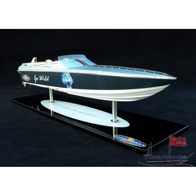 handcrafted cigarette 'go wild' racing boat model