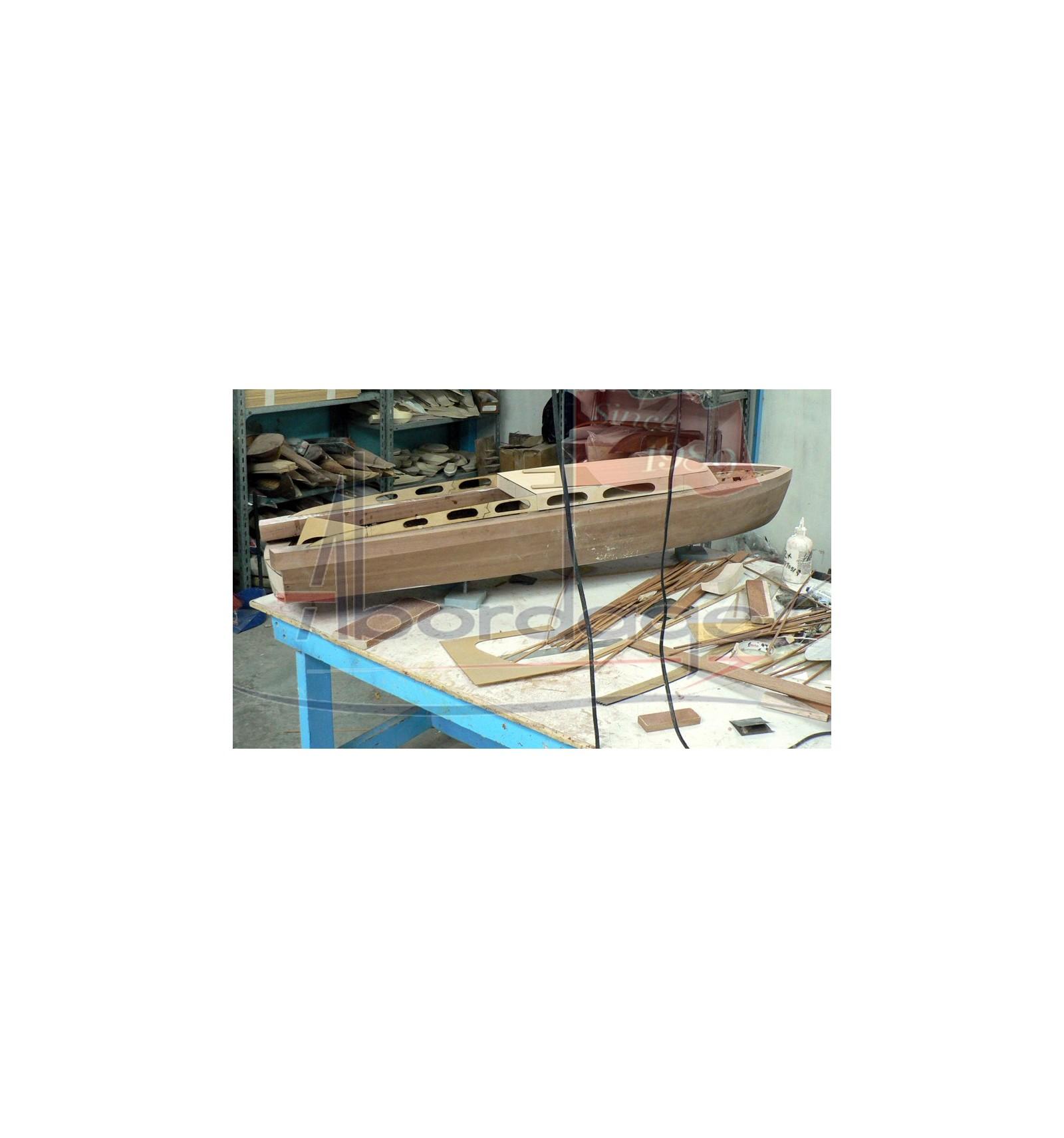 "hacker-craft ""thunderbird"" 1939 - 55 foot wooden speedboat."