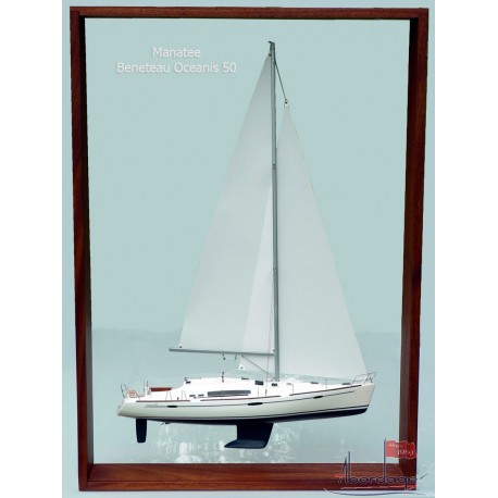 "Beneteau Oceanis 50 ""Manatee"" Framed Model built by Abordage"