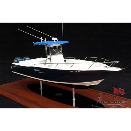 """Stamas 290 Tarpon """"Scout"""" Boat Model built by Abordage"""