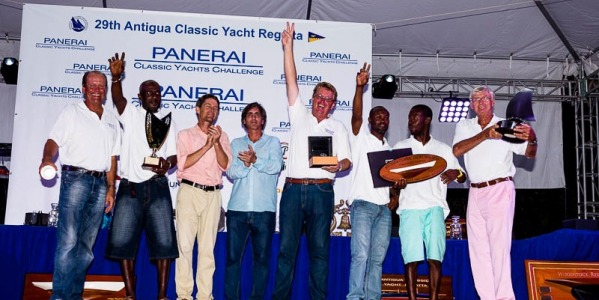 Abordage's Trophies at the Antigua Classic Yacht Regatta