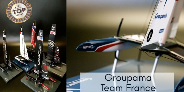 Introducing ... the GROUPAMA Team France, AC 50 desk model and its display case.